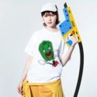Orihamo Tのピーマンパプリカ Washed T-shirtsの着用イメージ(表面)