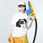 pukomon.のぱぐもん。ぶえくしっ Washed T-shirtsの着用イメージ(表面)