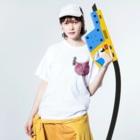 Miakoのそれやのピンク Washed T-shirtsの着用イメージ(表面)