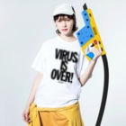 AND SHOUT merchandiseのIF YOU WANT IT Washed T-shirtsの着用イメージ(表面)