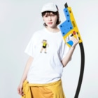 MOBの砲丸投げ Washed T-shirtsの着用イメージ(表面)