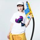 qethapethapのzombie Washed T-shirtsの着用イメージ(表面)