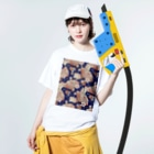navy_marcのアジアンティーク Washed T-shirtsの着用イメージ(表面)
