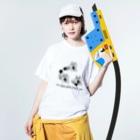 PokuStarのボクシング 黄金の右 Washed T-shirtsの着用イメージ(表面)