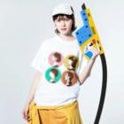 colorfulのチョコ詰め合わせ Washed T-shirtsの着用イメージ(表面)