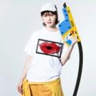 Chankiiiのおくち Washed T-shirtsの着用イメージ(表面)