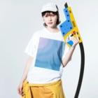mega_shopの落書きTシャツ Washed T-shirtsの着用イメージ(表面)