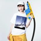 TAK-DesignのRay Of Light Washed T-shirtsの着用イメージ(表面)