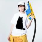 SAIWAI DESIGN STOREのクロネコこぶお2021 Washed T-shirtsの着用イメージ(表面)