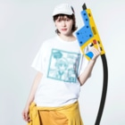 SWEET&SPICY 【すいすぱ】のGAME ON! 【SWEET LIGHTBLUE】 Washed T-shirtsの着用イメージ(表面)