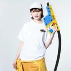 snaggedgorillaのホホワキュウセン Washed T-Shirtの着用イメージ(表面)