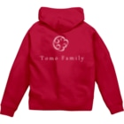 Tomo Family 63のロゴパーカー (4色展開) Zip Hoodie