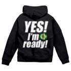 【仮想通貨】ADKグッズ(Tシャツ等)専門店 のYes! I'm ready! Zip Hoodies