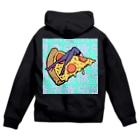 Mieko_Kawasakiの欲望のピザ🍕 GUILTY PLEASURE PIZZA HIGH HEEL Zip Hoodie