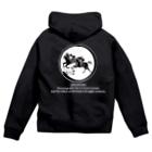 oguogu牧場SUZURI店の馬紋 窓・併せ馬 Zip Hoodies