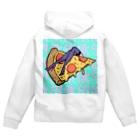 Mieko_Kawasakiの欲望のピザ🍕 GUILTY PLEASURE PIZZA HIGH HEEL Zip Hoodies
