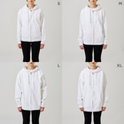 MIHAYASHIの御林園芸 Zip Hoodiesのサイズ別着用イメージ(女性)