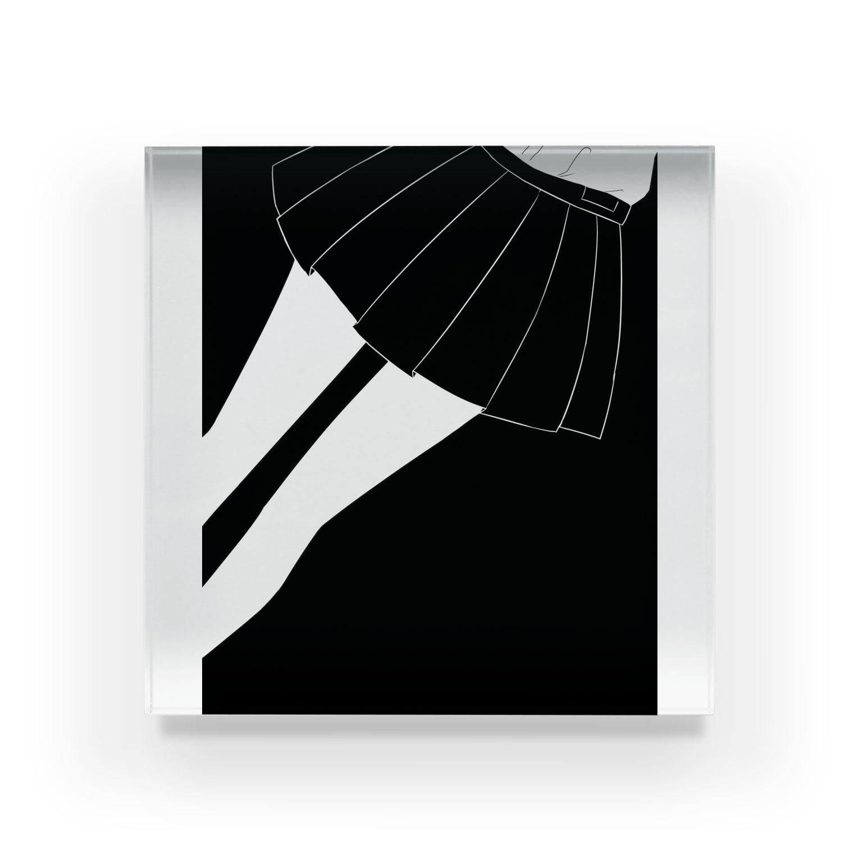 piorのスカート(モノクロ) Acrylic Block