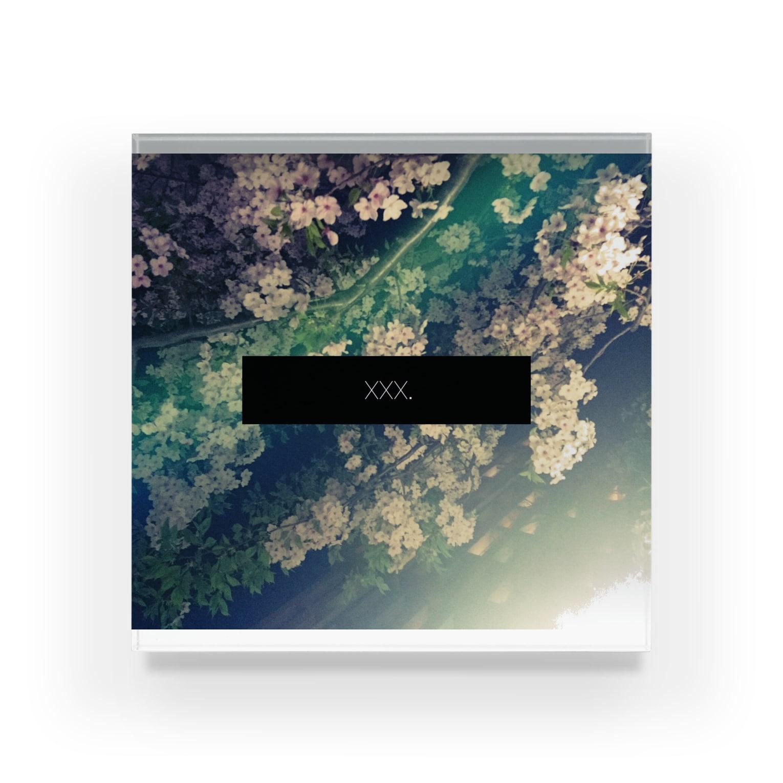 xxx。のxxx.midnight flower Acrylic Block