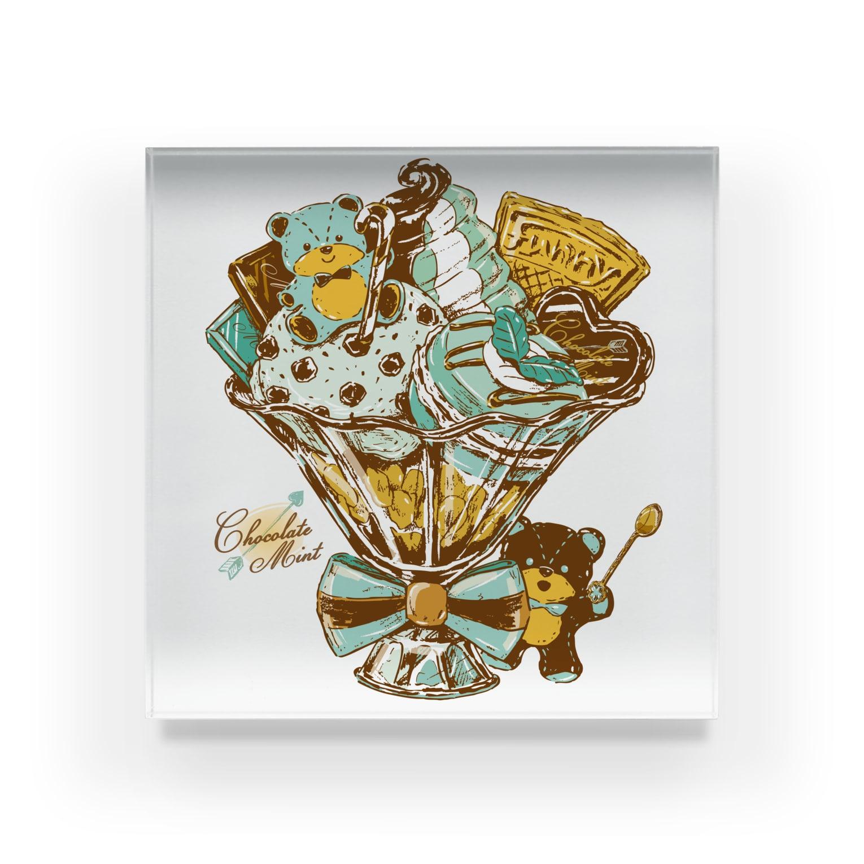 レモネードプールのチョコミントパフェ Acrylic Block