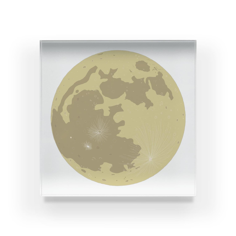 pochette design studioの満月イラスト Acrylic Block