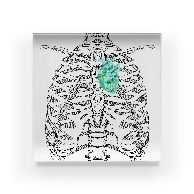 BLACKMaMbaの肋骨と心臓 Acrylic Block