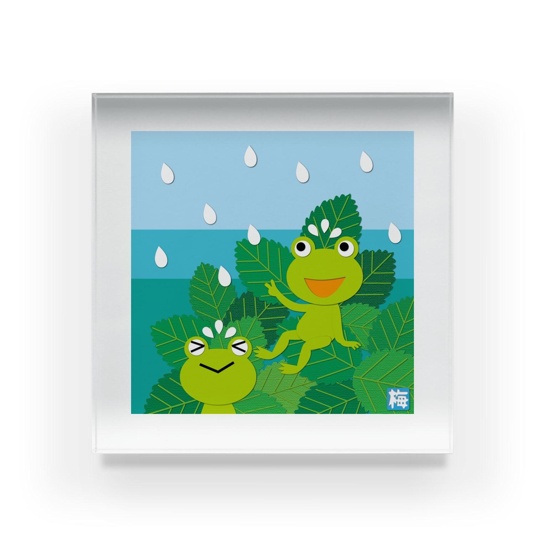 KimikoUmekawaの雨どきどき Acrylic Block