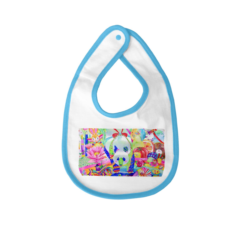 shu-shuの水彩イラスト パンダ Baby bibs