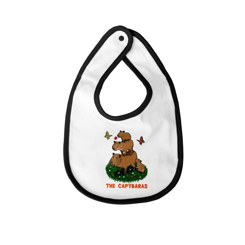 令和堂のthe capybaras Baby bibs