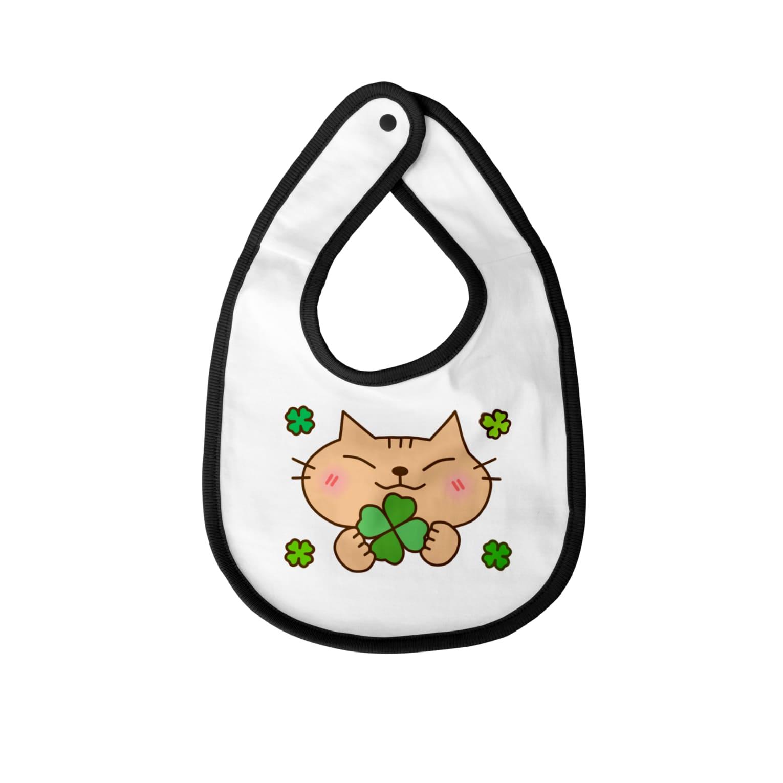 eigoyaのクローバーと茶トラ猫 Baby bibs