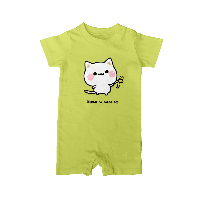 DECORの気づかいのできるネコ 笑顔になぁれver. Baby rompers