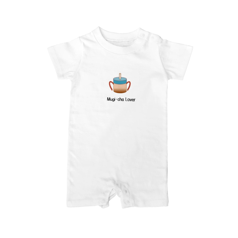 フラミンゴの泡の麦茶Lover Baby rompers