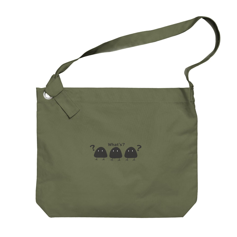aliveONLINE SUZURI店のすゞめむすび Big shoulder bags
