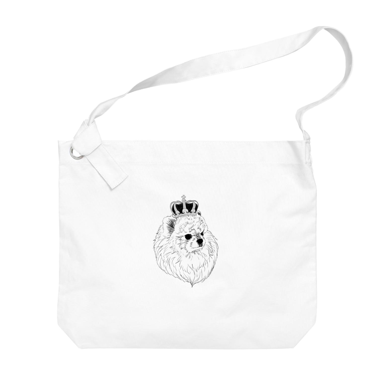 Chinagiのキング ポメラニアン Big shoulder bags