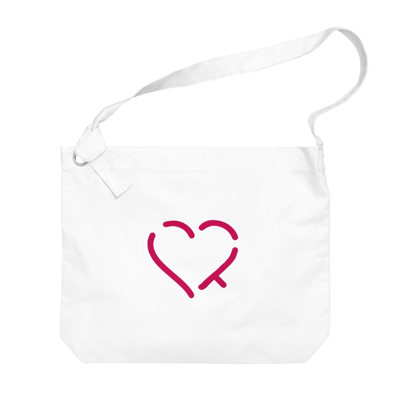 レオナの作字「ハート」 Big shoulder bags