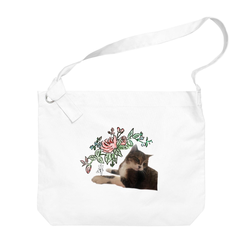 ginganoyoruのsumomo×ねこレンジャー Big shoulder bags