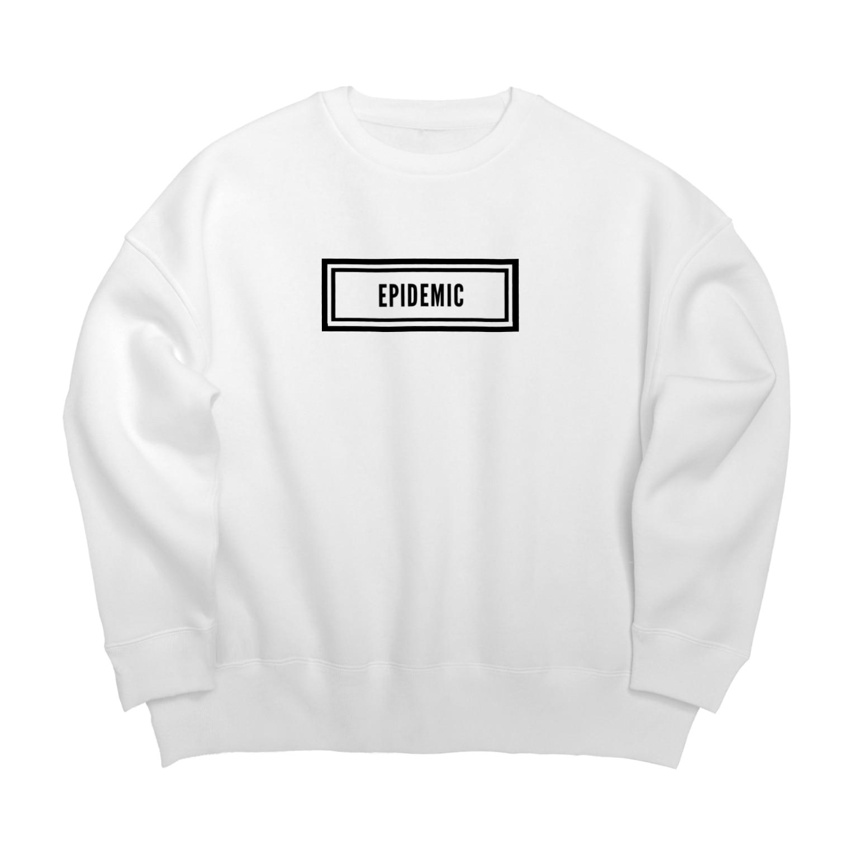 EPIDEMICのEPIDEMIC box logo Big silhouette sweats