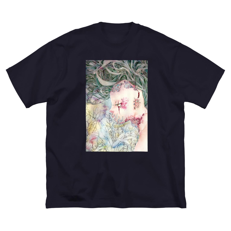 Le souffle blanc@SUZURIの畝る聲 Big silhouette T-shirts