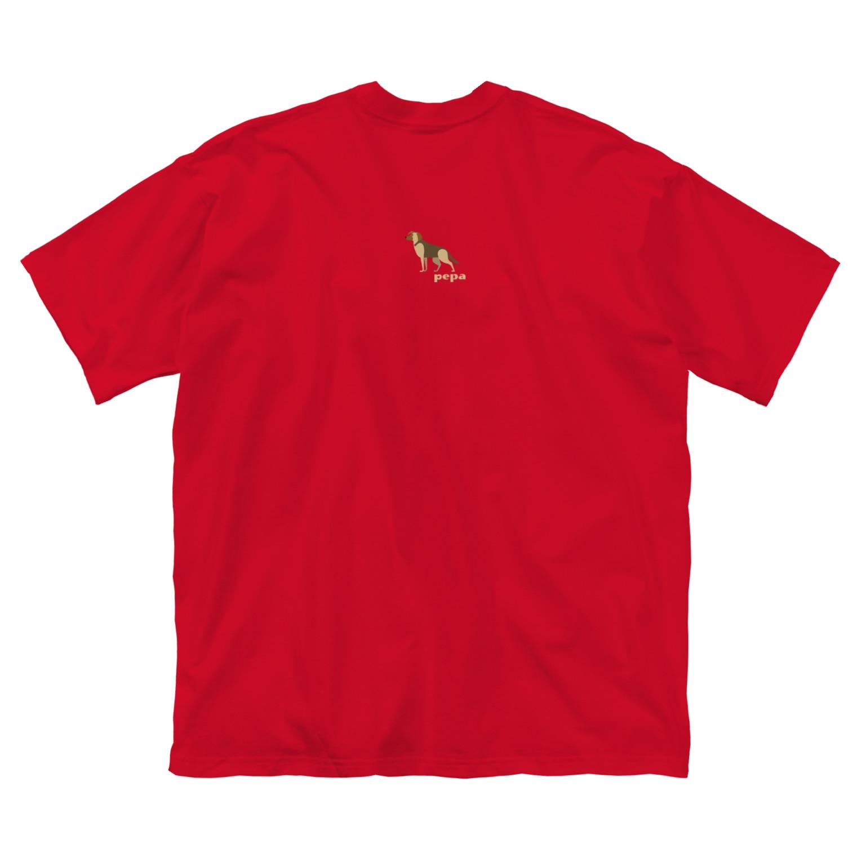 edamametoichiのpepa 2 小 ロゴ色違い Big silhouette T-shirts