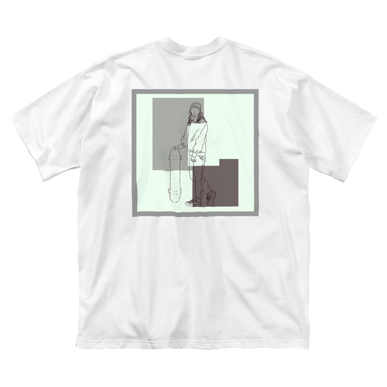 Ma Chérieのスケボ女子 Big silhouette T-shirts
