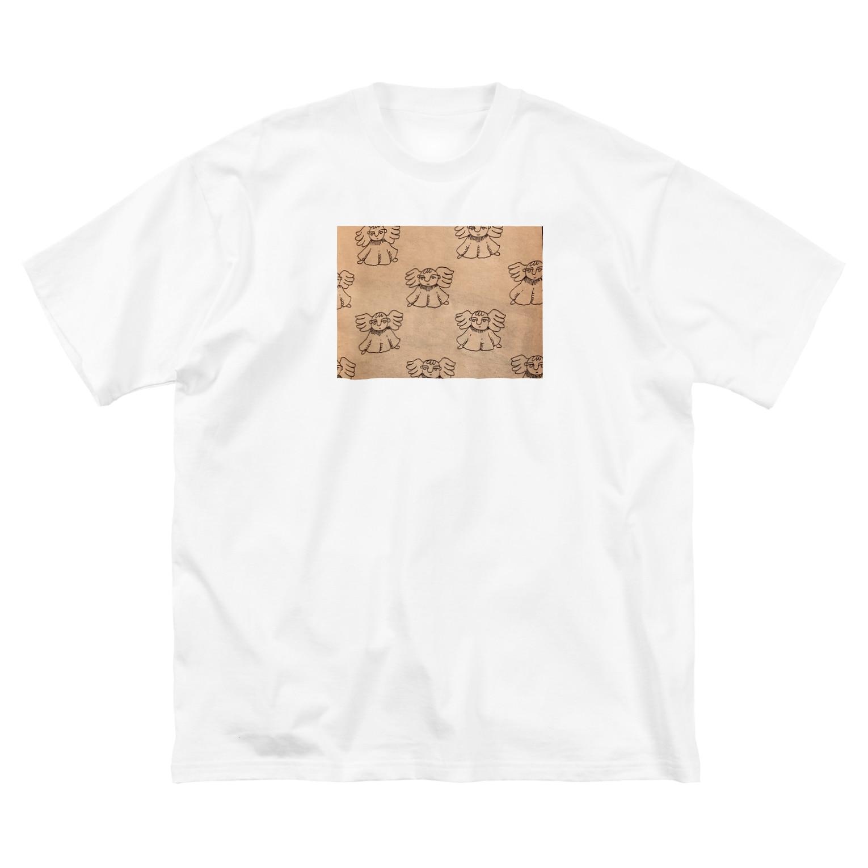izumi_salonの天使 Big silhouette T-shirts