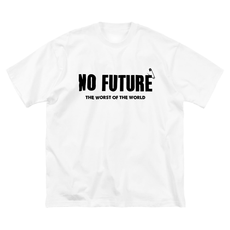 ShineのNO FUTURE 2 Big silhouette T-shirts