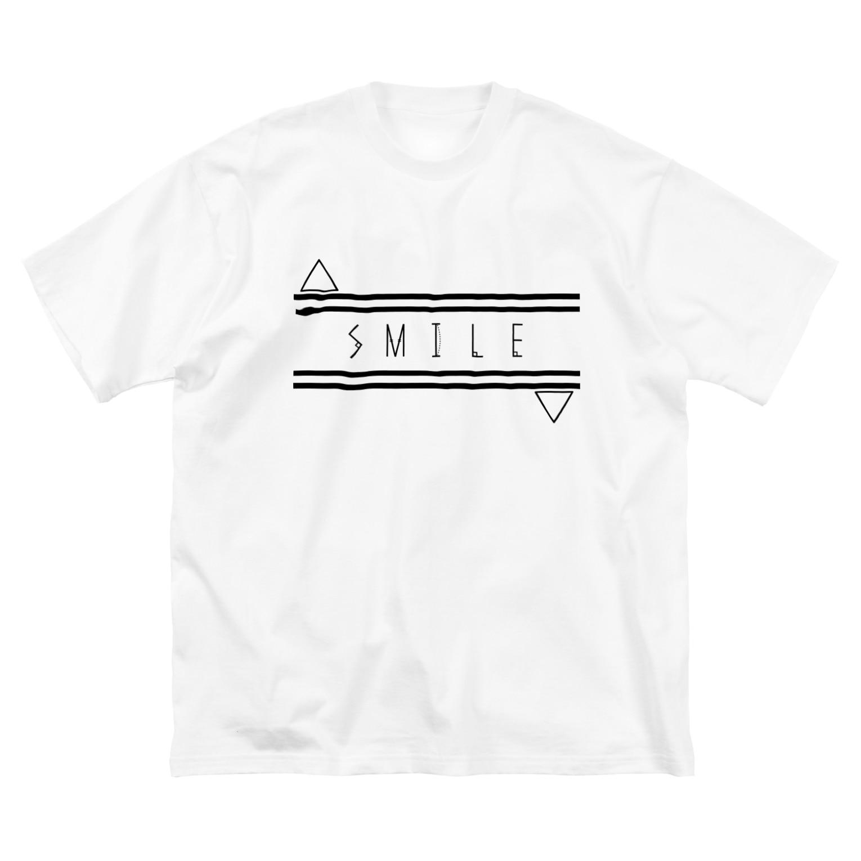 Meow__35のSMILE Big silhouette T-shirts