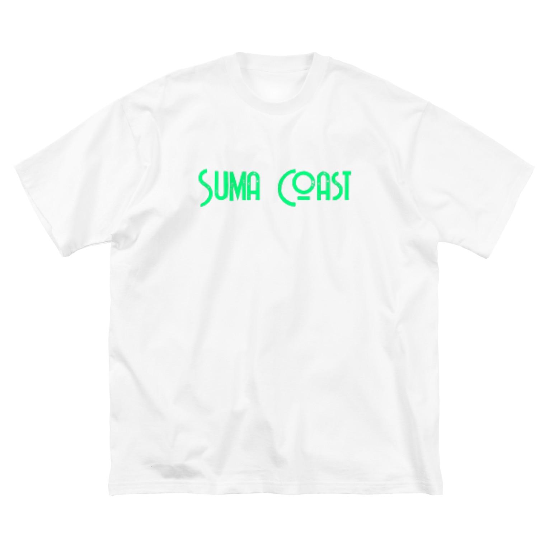 happymoonkobeのSuma Coast Big silhouette T-shirts