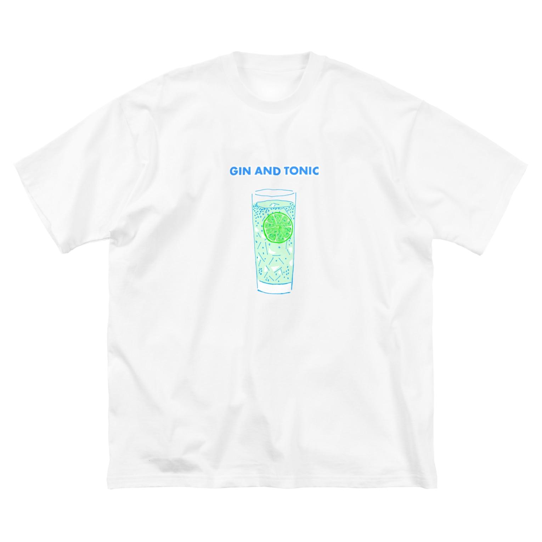 NIKORASU GOのカクテルデザイン「ジントニック」 Big silhouette T-shirts