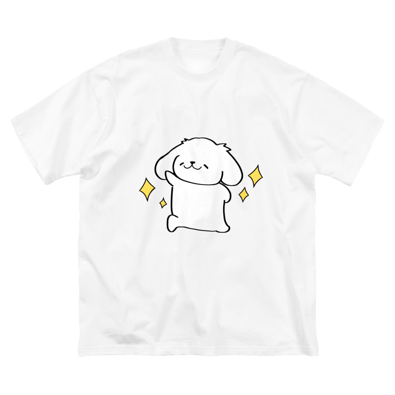 yuu. 「はっちゃんず」の輝くはっちゃん Big silhouette T-shirts