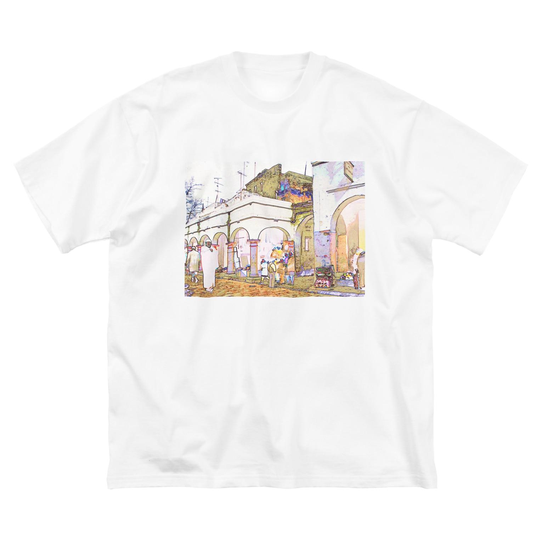 FUCHSGOLDのCG絵画:アライシュのカスバ CG art: Larache Big silhouette T-shirts