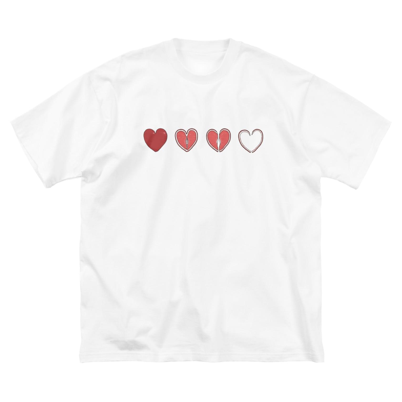 Sleep Sheepの初恋 Big silhouette T-shirts