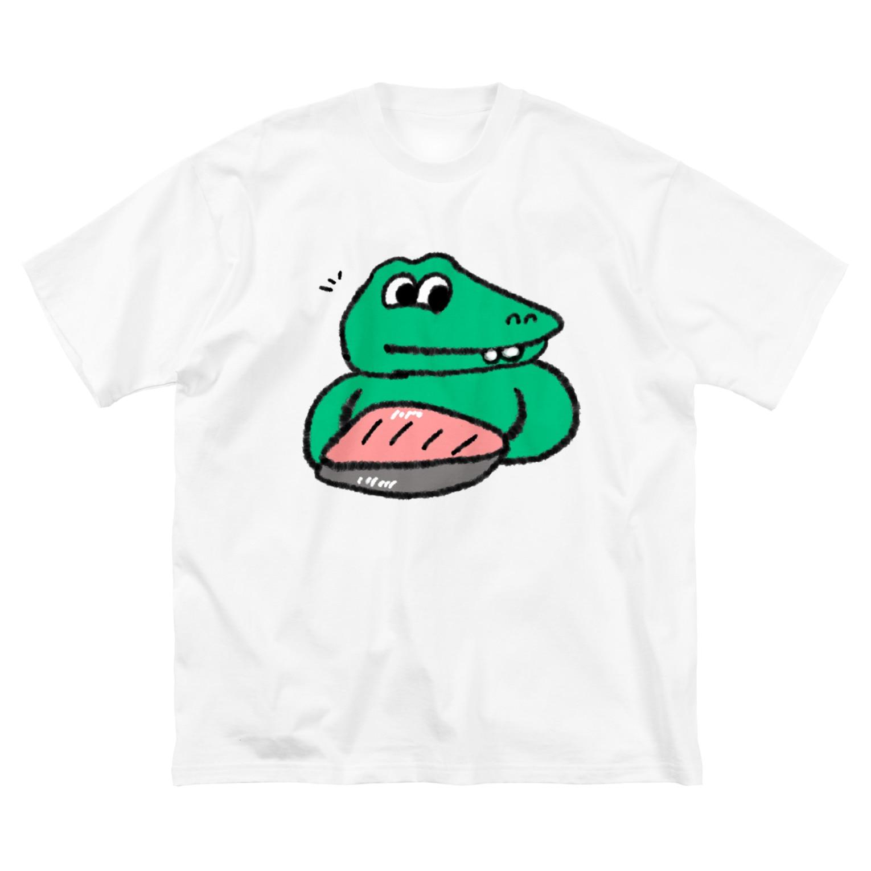 Nririのわにさ-もん Big silhouette T-shirts