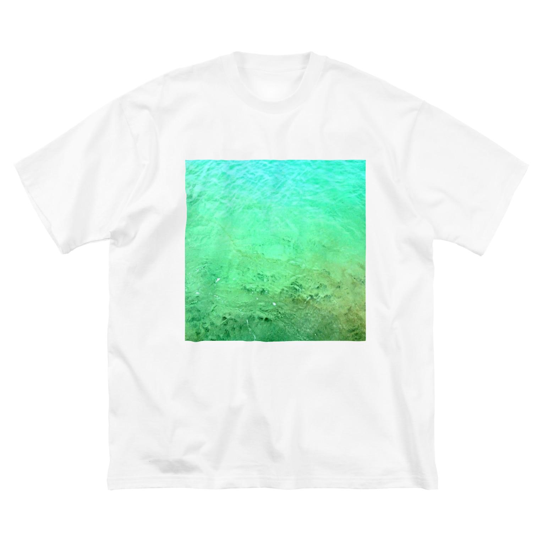 古春一生(Koharu Issey)のメロンソーダの海。 Big silhouette T-shirts